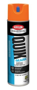Krylon QUIK MARK Fluorescent Orange Water based Inverted Marking Paints 17 oz. 12 Cans