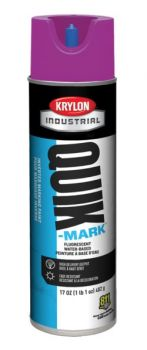 Krylon QUIK MARK Fluorescent Purple Water based Inverted Marking Paints 17 oz. 12 Cans