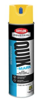Krylon QUIK MARK HI Vis Yellow Water based Inverted Marking Paints 17 oz. 12 Cans