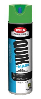 Krylon QUIK MARK Green Water based Inverted Marking Paints 17 oz. 12 Cans
