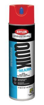 Krylon QUIK MARK Fluorescent Red/Orange Water based Inverted Marking Paints 17 oz. 12 Cans