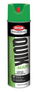 Krylon QUIK-MARK™ Overhead Marking Paint  12 Cans Fluorescent Green