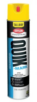Krylon QUIK MARK TallBoy HI VIS Yellow Water based Inverted Marking Paints 12 Cans