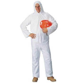 Pyrolon Plus2 Coveralls w/Hood - Medium 25/Case
