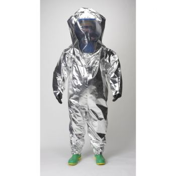 Lakeland 80655 Interceptor Certified Encapsulated Suit - Rear Entry Silver Color