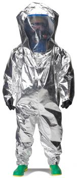 Lakeland 80655W Interceptor Certified Encapsulated Suit  Rear Entry  WideView Face Shield Silver