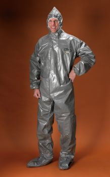 ChemMax 3 Coverall - Attached Hood-4X