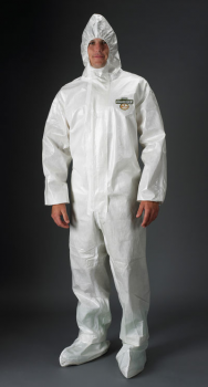 Lakeland ChemMax 2 Coverall Sealed Seam  Respirator Fit Hood 6/Case