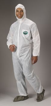 Lakeland SafeGard Coverall  Attached Hood Boots & Elastic Wrists (SMS) | 8414 25/CS
