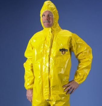 ChemMax 4 Coverall  Respirator Fit Hood Boots & Double Storm Flap  Yellow