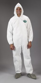 MicroMax HBF Coverall - Attached hood, boots, elastic wrists