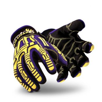 HexArmor Rig Lizard 2031 Impact Resistant Work Gloves Purple  1 Pair