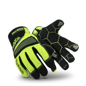HexArmor Mechanic's+  4019 Work Gloves Yellow Color - 1 Pair
