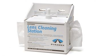 Pyramex Accessories Lens Cleaning Station W/8 Oz Cleaning Solution/600 Tissues