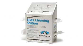 Pyramex Accessories Lens Cleaning Station W/16 Oz Cleaning Solution/ 4800 Tissues
