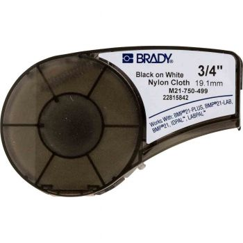 "Brady BMP21 Series Nylon Cloth Labels 0.75"" W x 16' L"