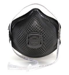 Moldex Medium/Large N95 Particulate Respirator w/ Valve M2700N (Special OPS Black) 100/Case
