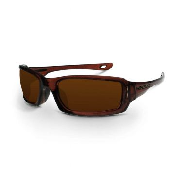 Radians M6A Silver Mirror on Brown Brown Safety Glasses 12 PR/Box