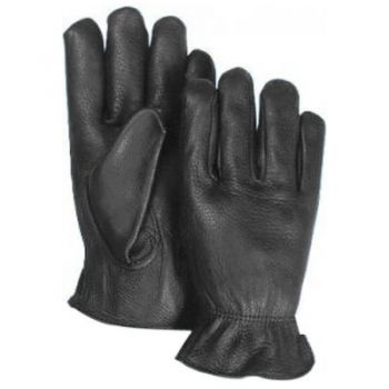 Majestic Black Deerskin Leather Gloves-Medium 1 Pair