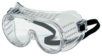 MCR 2220  Standard Goggles Regular Size Elastic Strap Clear Lens Perforated Frame 144/Pairs