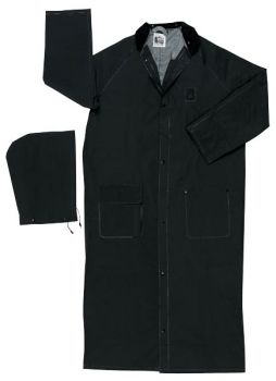 MCR River City .35mm 60 in Rider Coat Detachable Hood Black (1 Each)