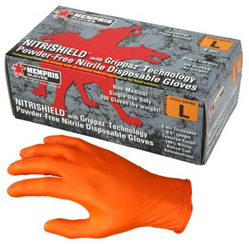 MCR 6016O - NitriShield® with Grippaz™ Technology, Orange Nitrile, 6 mil, 9.5 inch 10 Boxes/Case