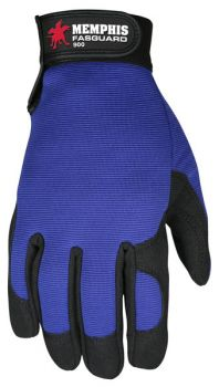 MCR Safety 900 Clarino Multi-Task Work Gloves Blue Color - 1 Pair