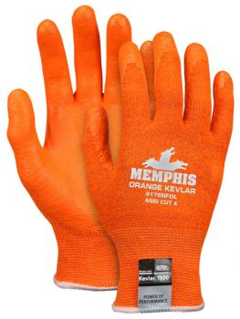MCR Memphis Kevlar® Material Glove Orange Touch Screen Compatible  1 Pair