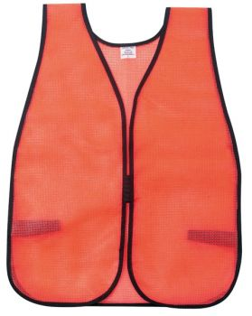 MCR River City General Purpose Safety Vest Polyester Mesh  Orange (1 Dozen)
