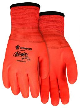MCR Ninja Ice N9690FCO HI-VIS Orange Winter Gloves 12 Pairs