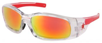 MCR Swagger Clear Frame Safety Glasses Fire Mirror Lens SR14R (12 Pair)