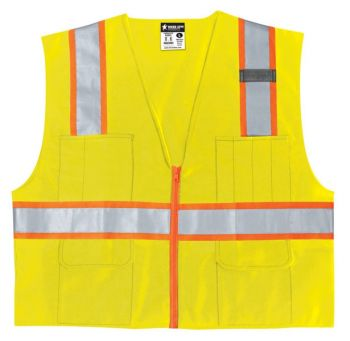 MCR River City SURVL Safety Vest, Class 2 Surveyor Style (1 Each)