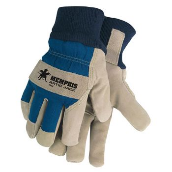 MCR 1956 Artic Jack® Split Pigskin Insulated Leather Palm Work Gloves, 12 Pairs