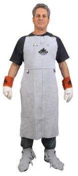 Memphis Welding Bib Apron with Front Pocket, 24 in x 42 in - 38142MW
