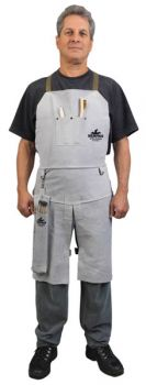 "Memphis Welding Bib Apron with Split Leg and Front Pocket, 24"" x 36"" - 38236MW"