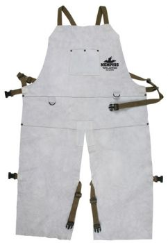 Memphis Welding Bib Apron with Split Leg and Front Pocket, 24 in x 42 in - 38242MW