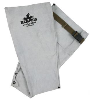 "Memphis Leather Welding Apparel, Sleeve with Snaps, 18"" Length 38418MW"