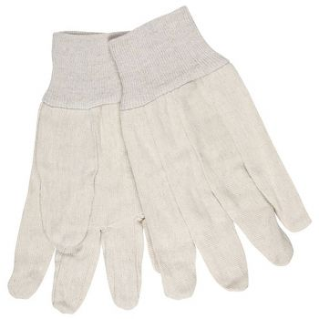 Cotton Canvas Straight Thumb Glove-Mens 12 Pairs