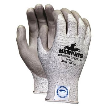 Dyneema Glove w/Gray PU Coating-XL 12 Pairs