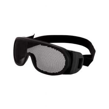 Radians Matte Black with Elastic Strap Wire Mesh Safety Glasses with Elastic Strap 12 PR/Box