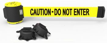 Banner Stakes MH5002 30' Magnetic Wall Mount Barrier, Caution - Do Not Enter