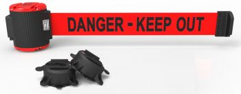 Banner Stakes MH5009 30' Magnetic Wall Mount Barrier, Danger - Keep Out