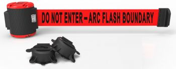 Banner Stakes MH5011 30' Magnetic Wall Mount Barrier, Do Not Enter - Arc Flash Boundary