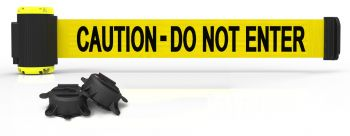 Banner Stakes MH7003 7' Magnetic Wall Mount Barrier, Caution - Do Not Enter