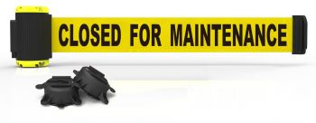 Banner Stakes MH7006 7' Magnetic Wall Mount Barrier, Closed for Maintenance