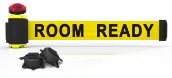 """Banner Stakes MH7011L 7' Magnetic Wall Mount Barrier with Light Kit - """"Room Ready"""" Banner"""