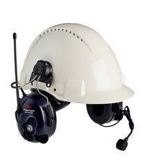 3M PELTOR LiteCom FRS Headset MT53H7P3E4602-NA, Hard Hat Attached