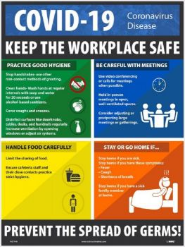 NMC PST149 COVID-19 Keep The Workplace Safe Poster