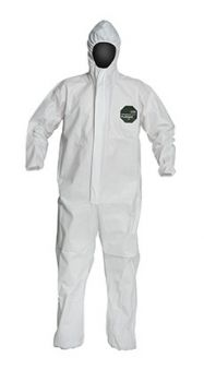 Dupont ProShield 50 NB127S Microporous Coveralls - Attached Hood, Elastic Wrists & Ankles, Serged Seams (Case of 25)