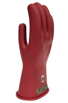 NSA DWH1100-R Class 00 Red Rubber Voltage Gloves 1 Pair